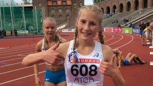 Nathalie Blomqvist, ungdomssverigekampen 2017.