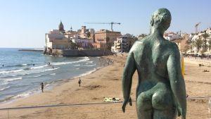 Stranden i den katalanska staden Sitges