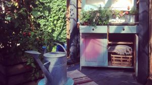 Interiör i trädgårdshus