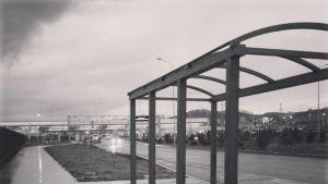 En busshållplats i Sotji.