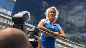 Sandra Eriksson redo för hinderkvalet på lördag.