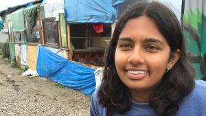 Nela Shah jobbar på Kids Café i flyktinglägret i Calais.