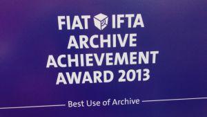 """Diplom för FIAT IFTA tävling för """"best use of archive"""""""