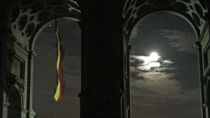 Belgiens flagga i månsken