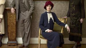 Michelle Dockery som Lady Mary Crawley i tv-serien Downton Abbey.