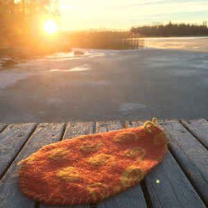 Tovat sittunderlag i vinterlandskap