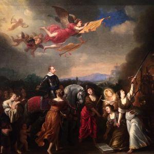 Okänd konstnär: Apoteos av Gustav II Adolf (1600-talet)
