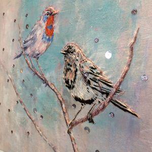 Mirja Marschin lintu taideteos.
