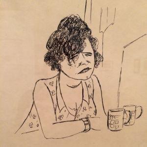 Jeanne Mammen. Die Trinkerin (Drickerskan), ca 1934
