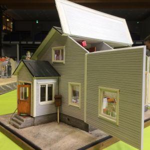 Miniatyrmodell av Frontmannahus.