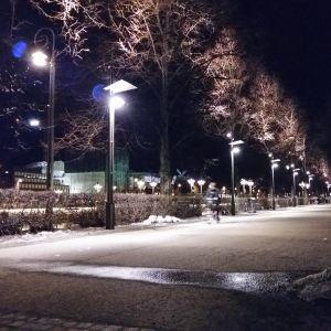 Åbo släcker belysningen längs Aura ås stränder på Earth Hour.