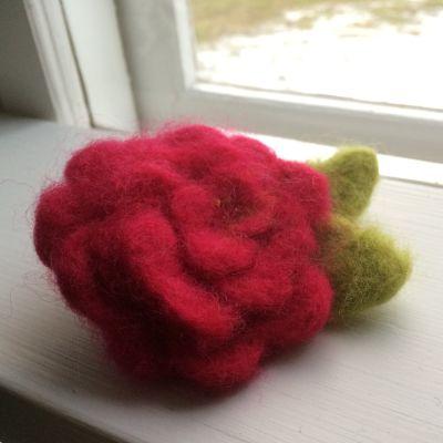 En nåltovad ros