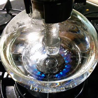 Kaffe som kokar
