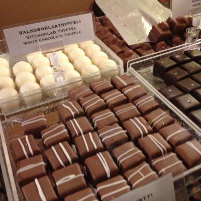 Praliner i Lilla chokladfabriken i Borgå