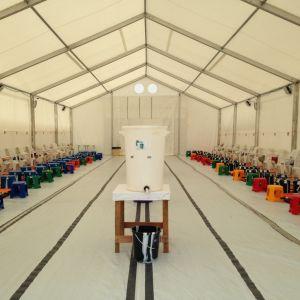Läkare utan gränsers nyaste ebolacentrum öppnade 16 september 2014.