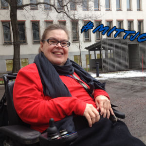 Handikappforum rf:s generalsekreterare Pirkko Mahlamäki