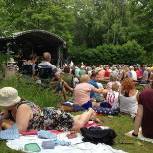 Konsert i parken i Dalsbruk under Baltic Jazz.