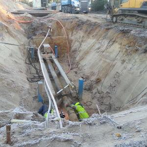 Vattenledningen byggdes mellan Svartå och Karis.