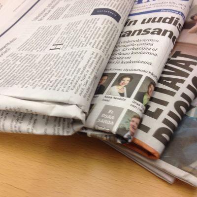 Bild av finländska dagstidningar.