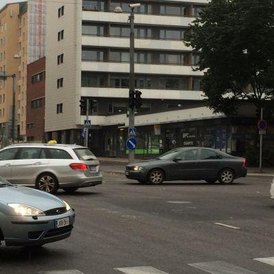 Korsningen av Nylandsgatan och Tavasgatan i Åbo.