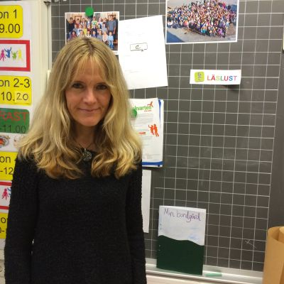 Martina Gustavsson jobbar i Cygnaeus skola i Åbo.