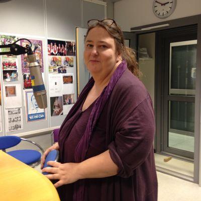 Laura Lodenius i Radiohusets studio