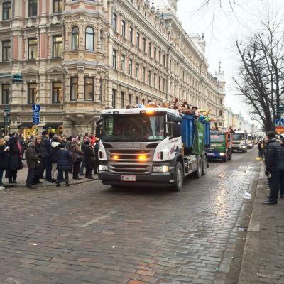 Penkkis på Esplanaden i Helsingfors 12.2.2015