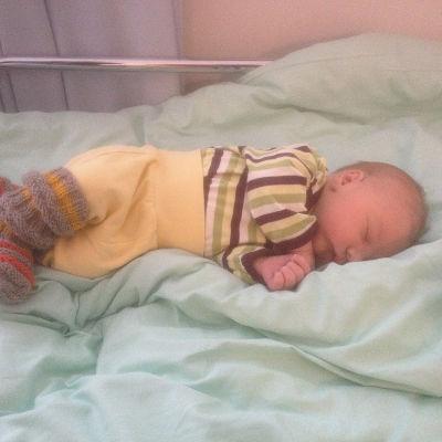 Baby på Borgå bb väntar på hemfärd