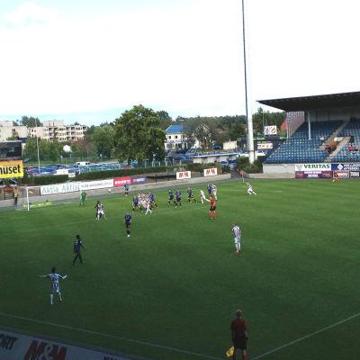 Fotbollsmatch mellan TPS och FC Inter