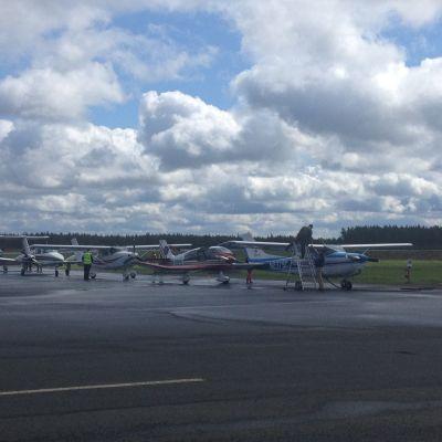 Flying farmers i Kronoby.