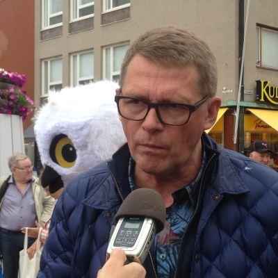 Centerns gruppordförande Matti Vanhanen vid evenemanget Suomi-areena 13 juli 2015.