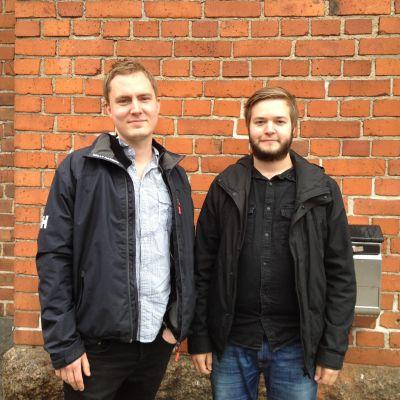 Sebastian Smeds och Emil Nordström är jazzmusiker i kvintetten ENQ.