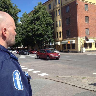 Polisen övervakar trafiken för rattfyllerister.