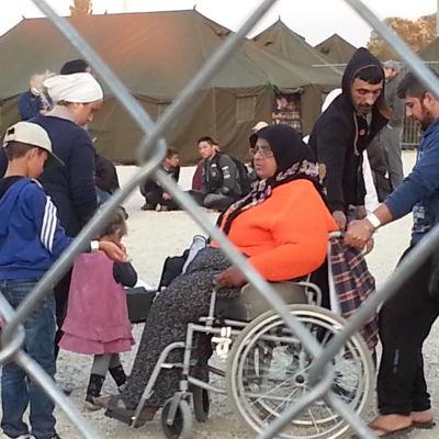 Flyktinglägret Röszke 2 i Ungern.