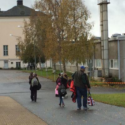 Familj åker vidare söderut från Torneå