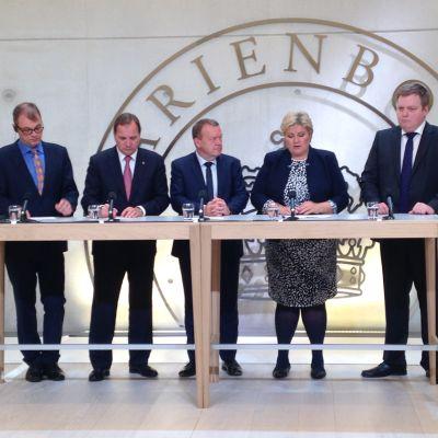 Nordiska statsministrar den 3 oktober 2015.