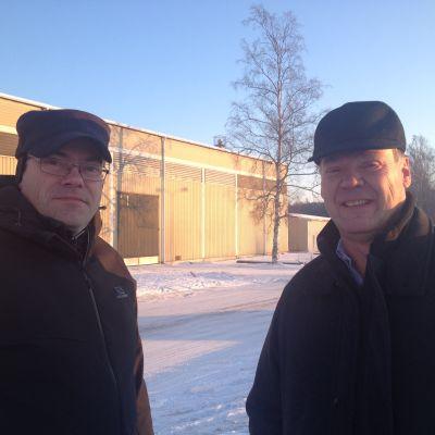 Olle Exell och Björn Siggberg agerar vice mässchef och mässchef för Raseborg Expo som ordnas i maj.