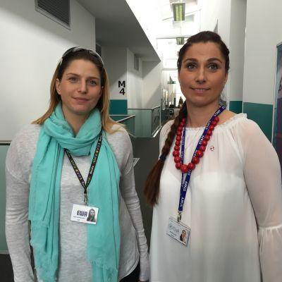 De polska systrarna Malgorzata Sieprawska och Elżbieta Kardynal i Birmingham.