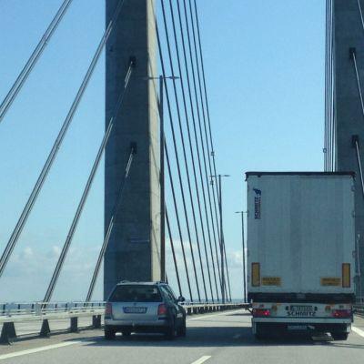 Biltrafik på Öresundsbron