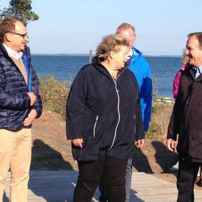 Nordiska statsministrar träffades på Åland. Juha Sipilä, Erna Solberg och Stefan Löfven.
