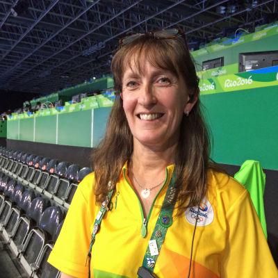 Sonja Grefberg jobbar som bordtennisfunktionär vid OS i Rio.
