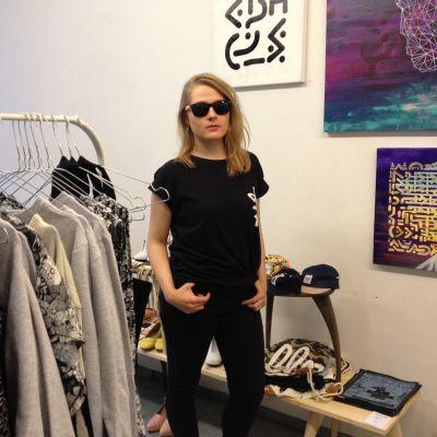 Kristina Karlsson är ledare för projektet Modespårvagnen (Muotiratikka).