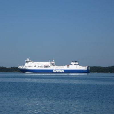 Finnlines fartyg i juli 2014.