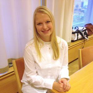 Kandidat nummer 9, Annica Sigfrids från Åbo.