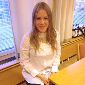 Kandidat nummer 8, Michelle Riska från Helsingfors
