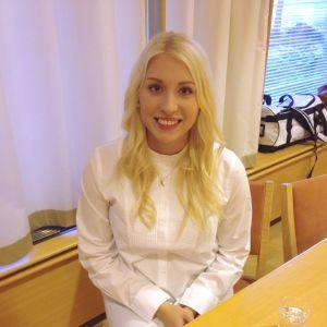 Kandidat nummer 3, Julia Lövdahl från Kristinestad.