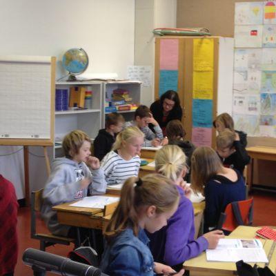 Språkbadsundervisning i Keskuskoulu i Vasa