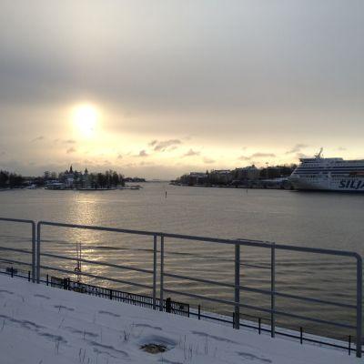 Fin vy över Södra hamnen i Helsingfors