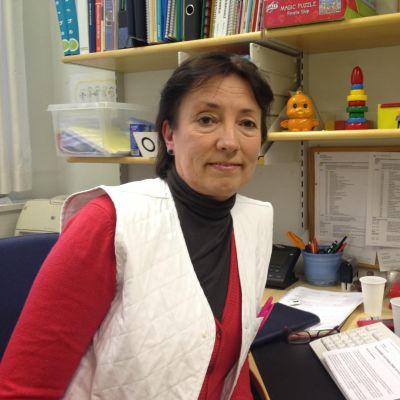 Peggy Granholm, hälsovårdare på Munksnäs hälsovårdscentral.