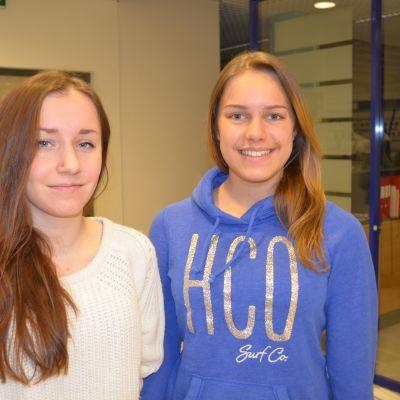 Vilma Wasström (t.h.) och Sarah LÃ�¶nnqvist (t.v.), aktiva i Matteus fÃ�¶rsamling i Helsingfors.